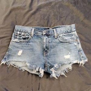Denim & Supply boyfriend cut off jean shorts